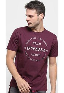 Camiseta O'Neill Wind & Sea-4887B - Masculino-Vinho