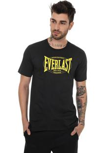 Camiseta Everlast Logo Heritage Grande Preto