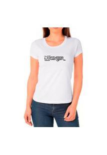 Camiseta Feminina Algodão The Joker Confortável Leve Casual Branco