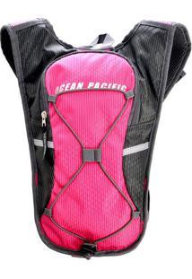 Mochila Com Recortes- Pink & Cinza- 37X30X5Cm- Ssantino