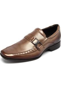 Sapato Couro Rafarillo Metal Dourado