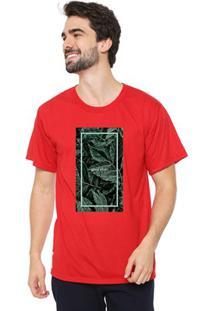 Camiseta Masculina Eco Canyon Good Vibe Vermelho