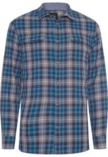 Camisa Masculina Sycamore - Cinza E Azul
