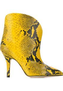 Paris Texas Bota Com Animal Print - Amarelo