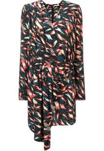 Givenchy Vestido Estampado Assimétrico - Preto
