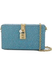 Dolce & Gabbana Clutch Estruturada Com Aplicações - Azul