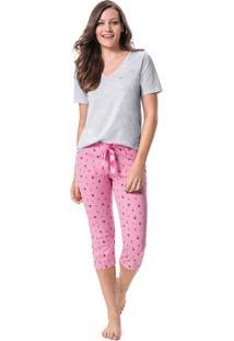 Pijama Com Strass Malwee Liberta