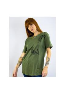 Camiseta Toneh Estampada Tigre Verde Verde