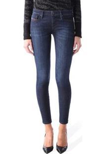 Calça Jeans Diesel Skinzee-Low Feminina - Feminino-Azul