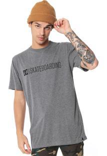 Camiseta Dc Shoes Skateboarding Cinza