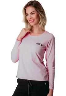 Camiseta Manga Longa Feminina Lifestyle - Rosa - Feminino - Algodã£O - Dafiti