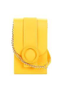 Bolsa Petite Jolie Mini Bag J-Lastic Phone Case Plus Feminina - Feminino-Amarelo