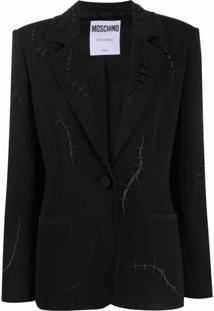 Moschino Blazer Com Detalhe De Costura - Preto