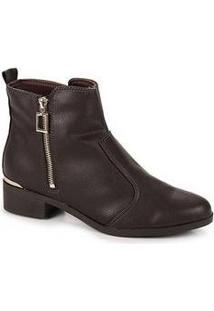 Ankle Boots Feminino Bebecê Cafe