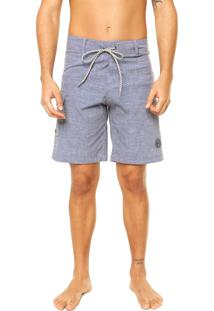 Bermuda Star Point Jeans Stripes Azul