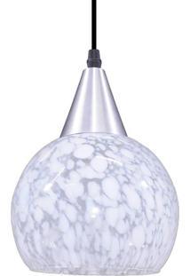 Luminária Pendente Taschibra Rovigo Aerado E27 Transparente Leitoso