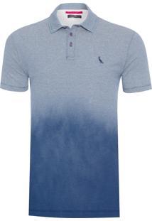 Polo Masculina Listras Spray - Azul