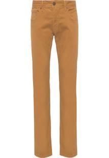 Calça Masculina Color Flex - Marrom