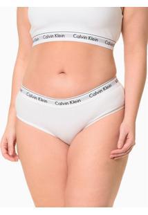 Calcinha Boyshort Moder Cotton Plus Size - Branco - 4Xl