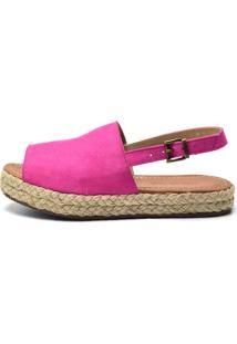 Sandália Flor Da Pele Flat Pink