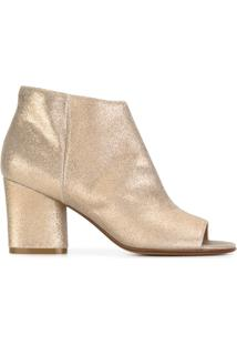 Maison Margiela Ankle Boot De Couro - Metallic