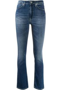 Dondup Charlotte Mid-Rise Bootcut Jeans - Azul