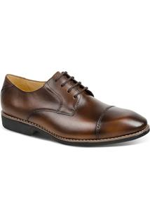 Sapato Masculino Linha Premium Derby Sandro Moscoloni 16763 Marrom Escuro