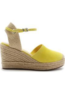 Sandália Espadrille Camurça Yellow   Schutz