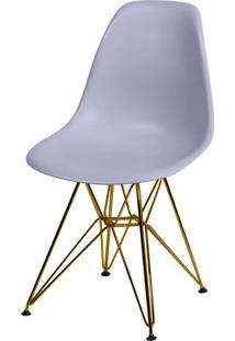 Cadeira Eames Polipropileno Cinza Base Cobre - 45980 - Sun House