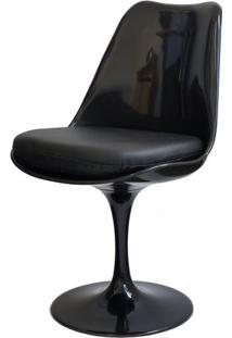 Cadeira Saarinen Preta (Com Almofada Preta) - 15042 Sun House