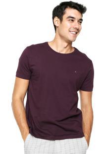 Camiseta Aramis Regular Fit Lisa Vinho