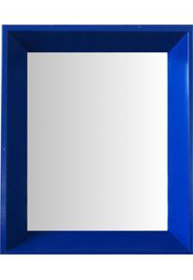 Espelho Moldura Madeira Lisa Fundo 16327 Azul Art Shop