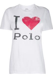 Polo Ralph Lauren Camiseta Com Estampa De Logo - Branco