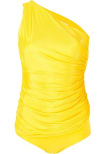 Alexandre Vauthier One-Shoulder Bodysuit - Amarelo