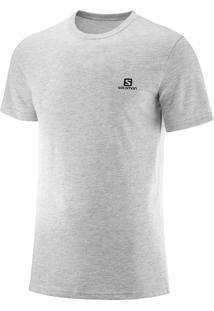 Camiseta Salomon Cotton Ss Masculino P Branco