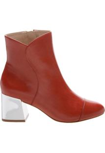 Bota Metallic Block Heel Red | Schutz