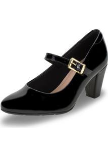 Sapato Feminino Salto Médio Modare - 7305134 Verniz/Preto 34