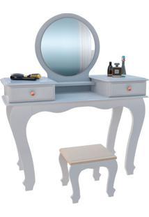 Penteadeira Com Espelho Ariel Branca