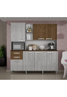 Armário De Cozinha 7 Portas Diamante Sallêto Móveis Rovere/Ipê