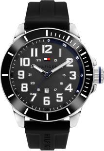 Relógio Tommy Hilfiger Masculino Borracha Preta - 1791545