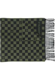 Karl Lagerfeld Echarpe Com Padronagem Xadrez - Verde