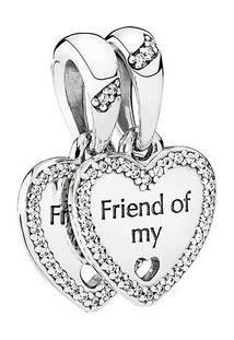 "Charm Pendente ""Friend Of My Heart""- Prata- Pandorapandora"
