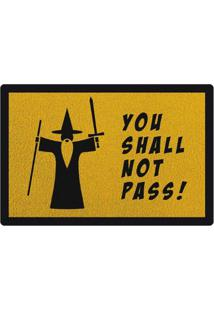Capacho You Shall Not Pass Geek10 - Amarelo