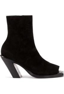 Ann Demeulemeester Ankle Boots Peep-Toe - Preto