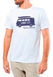 Camiseta Masculina Sandro Clothing Kombi Branca