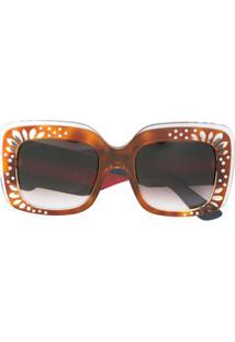 Gucci Eyewear Óculos De Sol Com Aplicação - Estampado