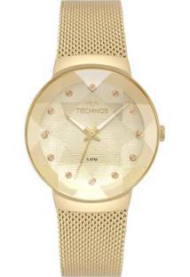 Relógio Technos Crystal 2035Mpw/4X Feminino - Feminino-Dourado