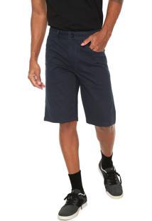 Bermuda Sarja Oakley Reta Pespontos Azul