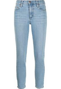 Nobody Denim Calça Jeans Skinny Cropped - Azul