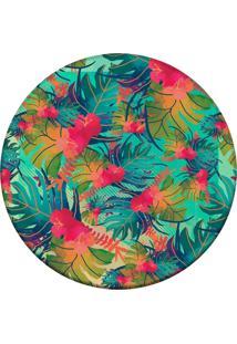 Tapete Love Decor Redondo Wevans Tropical Multicolorido 84Cm - Verde - Dafiti